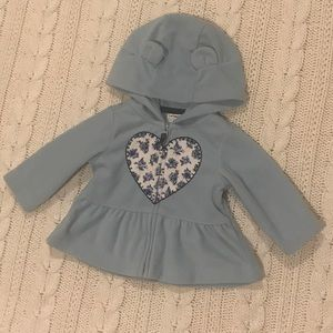 Carters 3Mo blue heart spring jacket